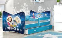 Łóżko TOMI COLOR 160x80 szuflada + materac