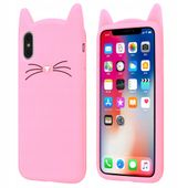 Etui iPhone 7 8 Case Kocie Uszy WĄSY Kot