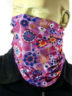 Maska bandana chusta na twarz głowę BOHO Flowers