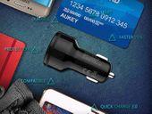 Ładowarka samochodowa AUKEY CC-T7 Quick Charge 3.0 +kabel USB zdjęcie 5