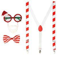 ZESTAW MIKOŁAJ świąteczny MUCHA szelki Okulary
