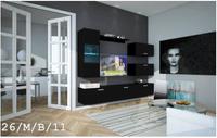 Meble Salonowe Nowoczesny Wygląd RICO C26 MAT Witryna LED wisząca