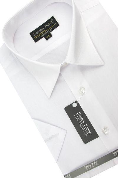 Koszula Męska Boston Public gładka biała na krótki rękaw K541 S 38 170/176 zdjęcie 3