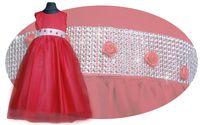 Sukienka dla druhny Silvia taśma diamentowa róże Producent 146/152