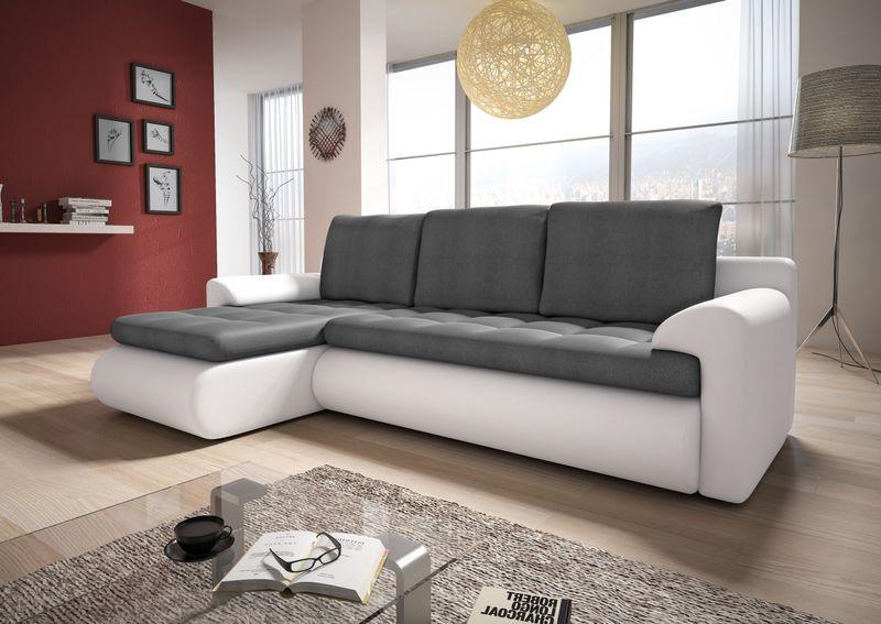 Narożnik Santi II w materiale zmywalnym - kanapa, sofa, łóżko, rogówka zdjęcie 1