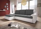 Narożnik Santi II w materiale zmywalnym - kanapa, sofa, łóżko, rogówka