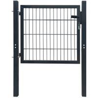 Brama ogrodzeniowa, stalowa, antracytowa, 103 x 150 cm