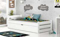 Łóżko podnoszone DAWID COLOR 200x90 + materac sprężynowy