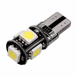 T10 W5W CANBUS ŻARÓWKA 5 LED 5050 5W ZIMNY