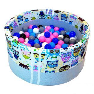 Suchy basen z kulkami 200 szt roczek prezent urodziny
