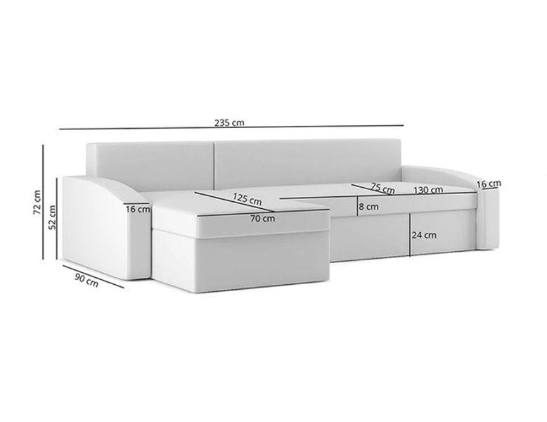 Narożnik HEWLET 1 funkcja SPANIA łóżko ROGÓWKA sofa zdjęcie 8