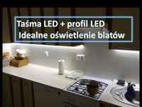 Oświetlenie blatów kuchennych-na wymiar