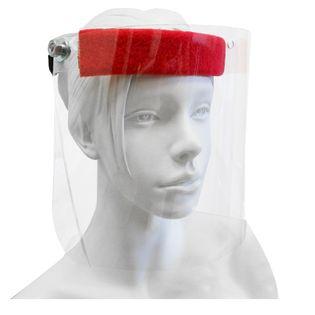 Przyłbica ochronna na twarz, maseczka, osłona regulowana po obwodzie podnoszona szybka ochraniacz chłonny napotnik