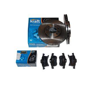 KRAFT Tarcze + klocki ASTRA H / III / MK3 przód