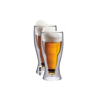 Kufle do Piwa Szklanki z Podwójną Ścianką 350ml 2szt. Prezent