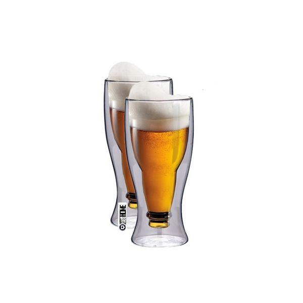 Kufle do Piwa Szklanki z Podwójną Ścianką 350ml 2szt. Prezent zdjęcie 1