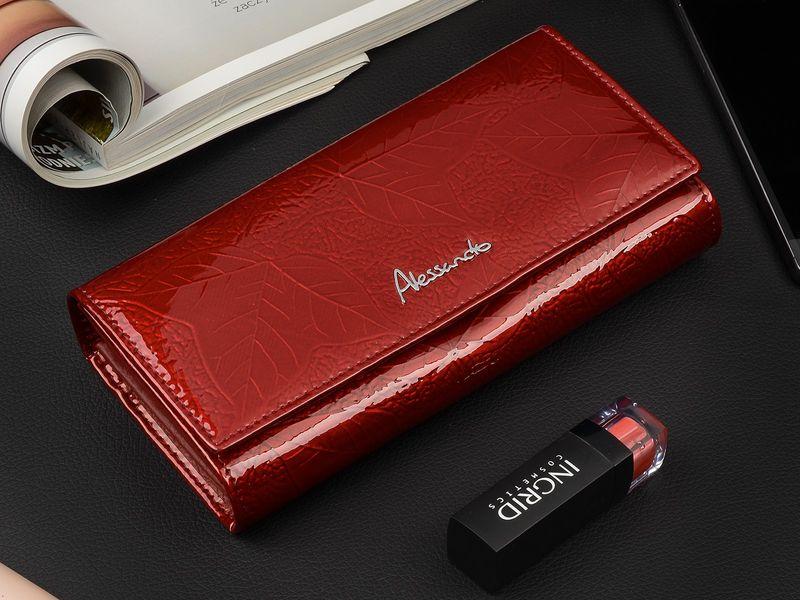 Duży damski portfel skórzany bigiel liście pudełko U68 zdjęcie 2