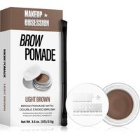 Makeup Obsession Brow Pomade With Double Ended Brush Żel i pomada do brwi 2,5g Light Brown