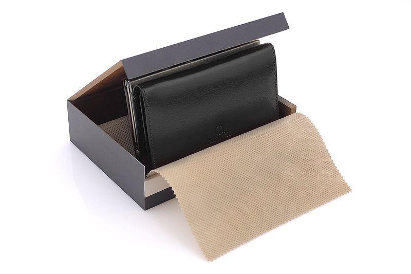 Skórzany portfel damski Orsatti D-02A w kolorze czarnym zdjęcie 6