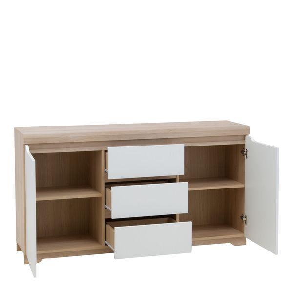 Zestaw stół i cztery krzesła do jadalni komoda witryny meble pokojowe zdjęcie 3