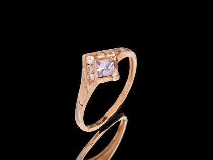 P479 Złoty pierścionek z cyrkoniami 585