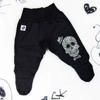 Rockowe czarne półśpiochy dziecięce Skull Boy Mia Rock 62