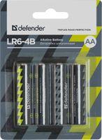 Baterie alkaliczne DEFENDER LR6-4B AA - 4 szt blister