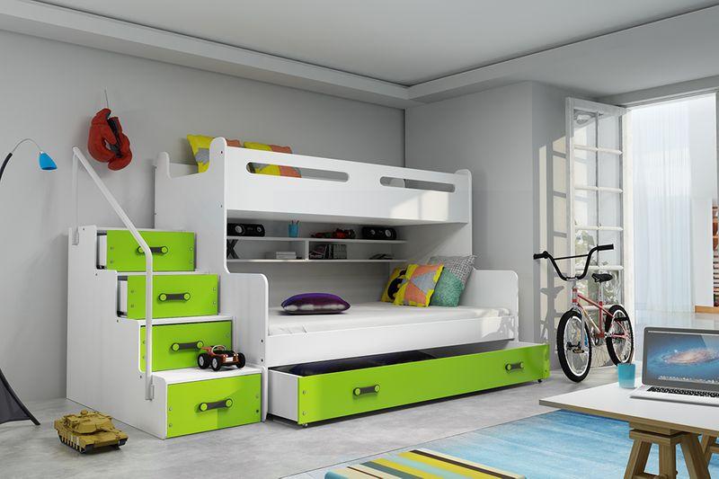 łóżko łóżka Piętrowe Dla Trójki Dzieci Max 3 Dziecięce 200x120materac
