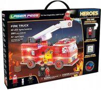 Laser Pegs Świecące Klocki Fire Truck Wóz Strażacki 280El. 18601