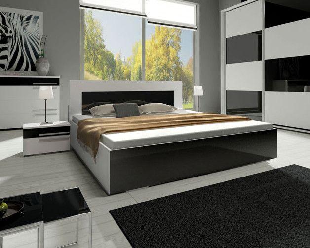 łóżko łoże Havana Ii 140x200 Stelaż Pojemnik Automat Połysk