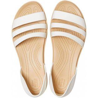 Crocs sandały damskie Tulum Open Flat W perłowe 206109 1CQ 39-40