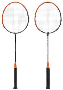 Zestaw rakietek do badmintona 2 sztuki + pokrowiec Nils NRZ005 steel