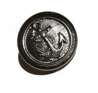 Guziki metalowe srebrne kotwica 15 mm stopka 1 szt