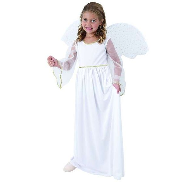 Strój ANIOŁEK przebranie sukienka skrzydła roz.140 zdjęcie 1