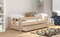 Łóżko FILIP 140x80 materac + szuflada