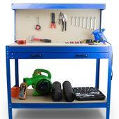 Stół Warsztatowy Garażowy Duży z Szufladą uchwyty Solidny do 100 kg zdjęcie 3