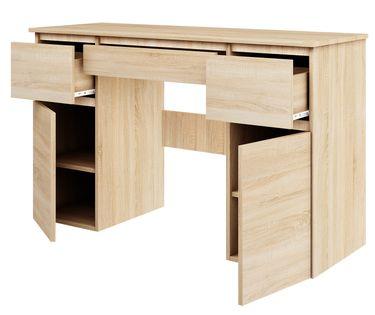 biurko MEGAN B1 DĄB SONOMA duże szkolne młodzieżowe pod laptop