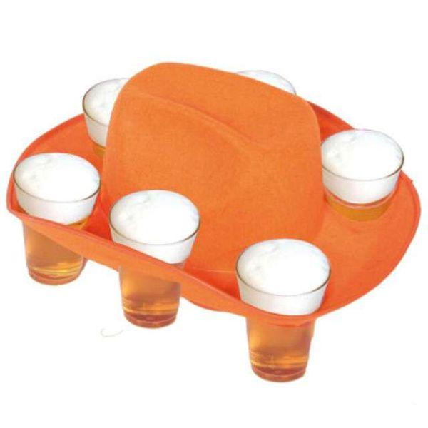 KAPELUSZ na PIWO pomarańczowy PIWNY  piwko zdjęcie 1