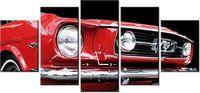 70cm 150cm ZEGAR 5 elem Red Mustang Y druk cyfrowy obraz
