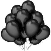 Balony lateksowe czarne metaliczne 12 sztuk