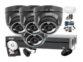 Zestaw do monitoringu: BCS-XVR0401-IV+ 4x Kamera BCS-DMQE3200IR3+ Dysk 1TB + Akcesoria