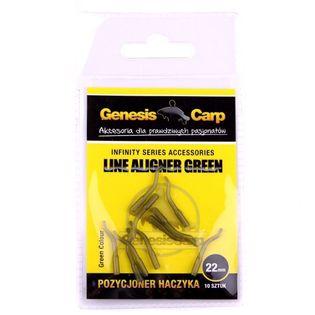 GENESIS CARP Pozycjoner haczyka zielony 15mm/10szt.