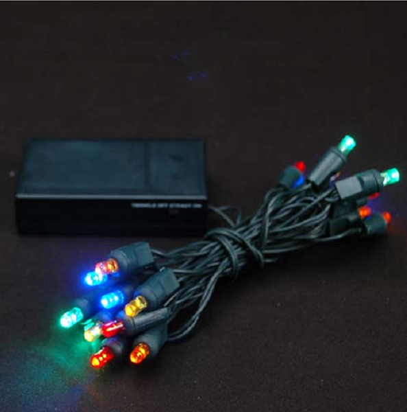 LAMPKI CHOINKOWE 20 LED NA BATERIE MULTI zdjęcie 1
