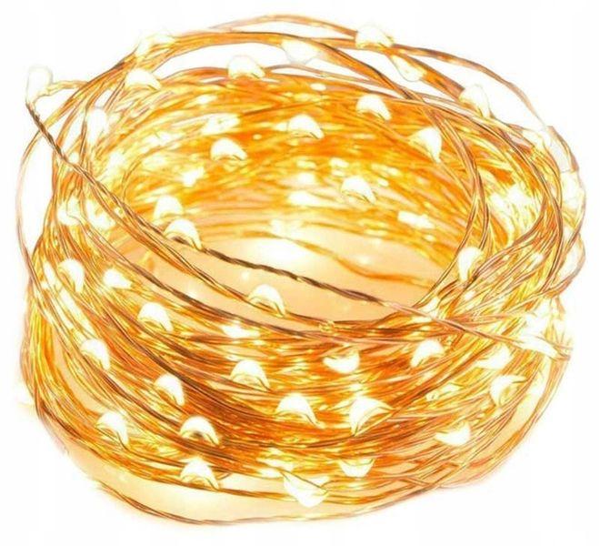 LAMPKI DRUCIKI 100 MICRO LED CHOINKOWE BIAŁY CIEPŁ zdjęcie 1