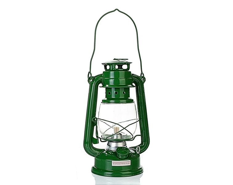 LAMPA NAFTOWA 27 cm   - zielony na Arena.pl
