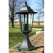 Lampa ogrodowa ciemnozielona (41 cm)