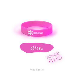 Opaski Niezgubki Fluo M M - 18 cm Fluorescencyjna różowa