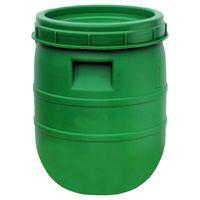 Beczka 45l zielona do kiszenia kapusty, ogórków zakręcana Boryszew