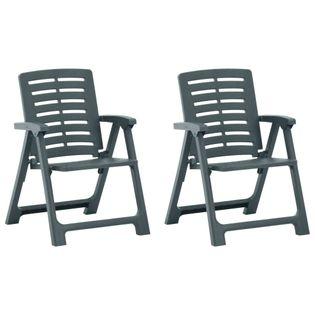 Lumarko Krzesła ogrodowe, 2 szt., plastikowe, zielone;