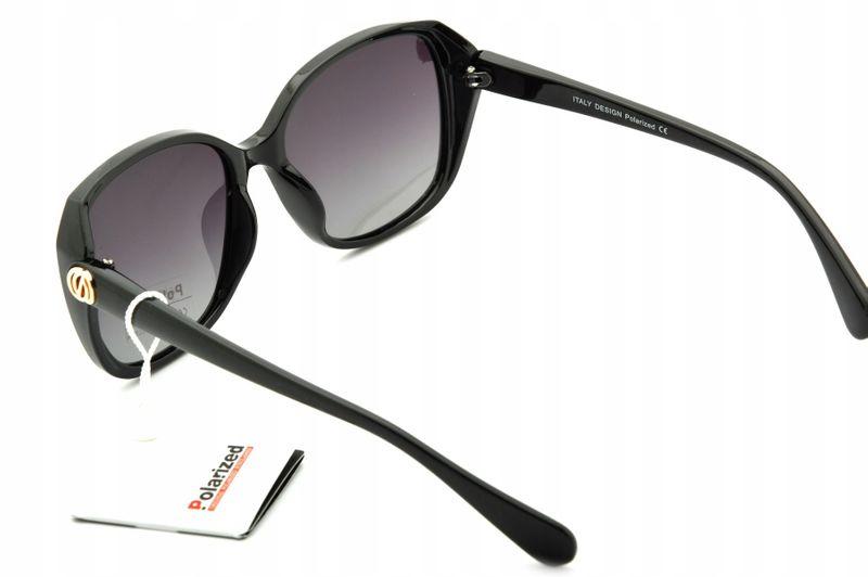 Damskie okulary muchy polaryzacyjne czarne